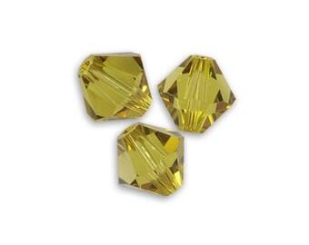 SMOKY QUARTZ AB 20 Perles Toupies 4mm  cristal Swarovski