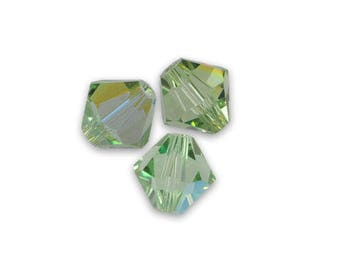 cristal de swarovski. 20 toupies 3mm sapphire