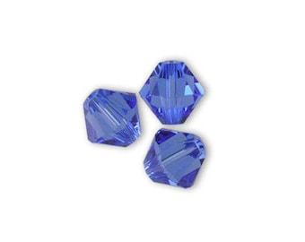 1 lot 20 Swarovski 4mm sapphire Swarovski Crystal bicone beads