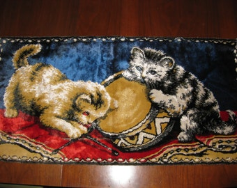 Vintage Cat Tapestry Wall Hanging