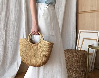 4269e78ec4d6 Handmade Straw Bag