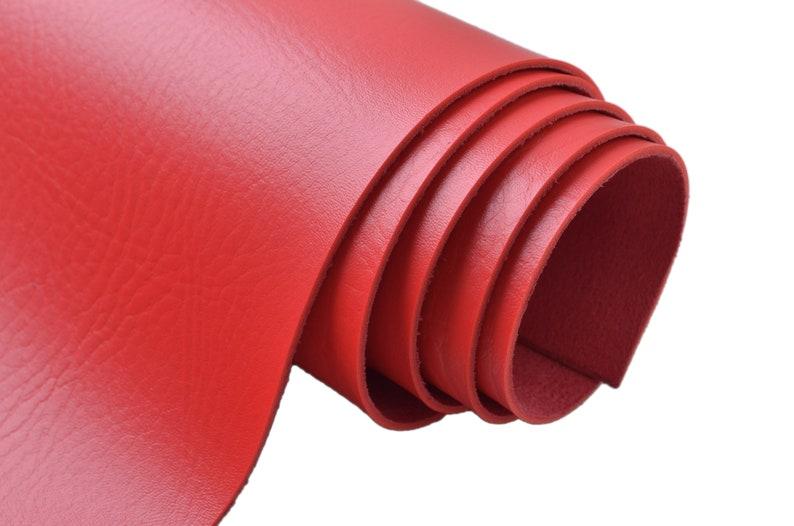 1/4 yard 2.0mm Red Elephant Skin Vinyl Leather FabricThick image 0