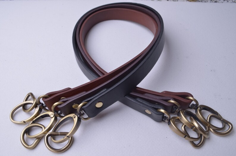 Pair 24 inches Vinyl Leather Purses Straps With 0.7/'/' Oval Ring and D ring,Vinyl Leather Bag Handles,replacement Purse Straps,WT102