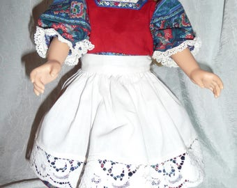 Very oldworld ethnic costume for 18 in dolls