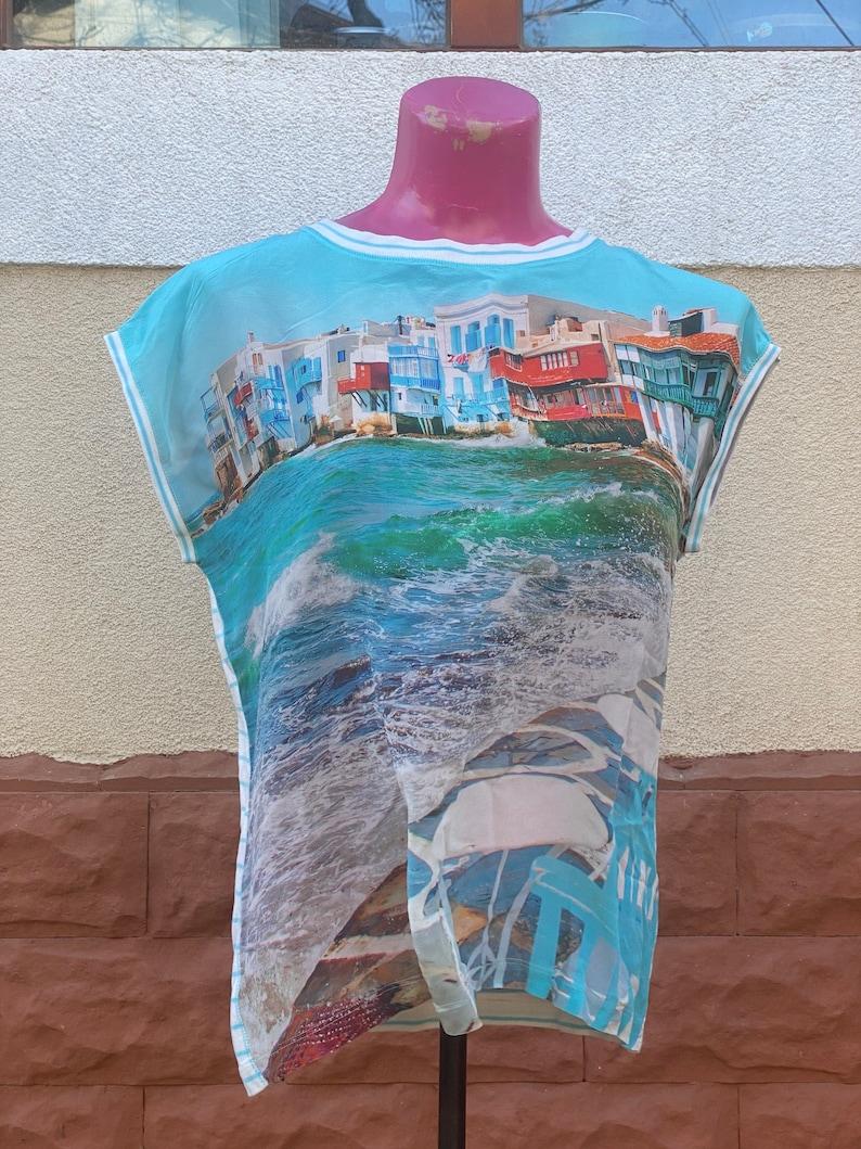 size L Photo white summer shirt
