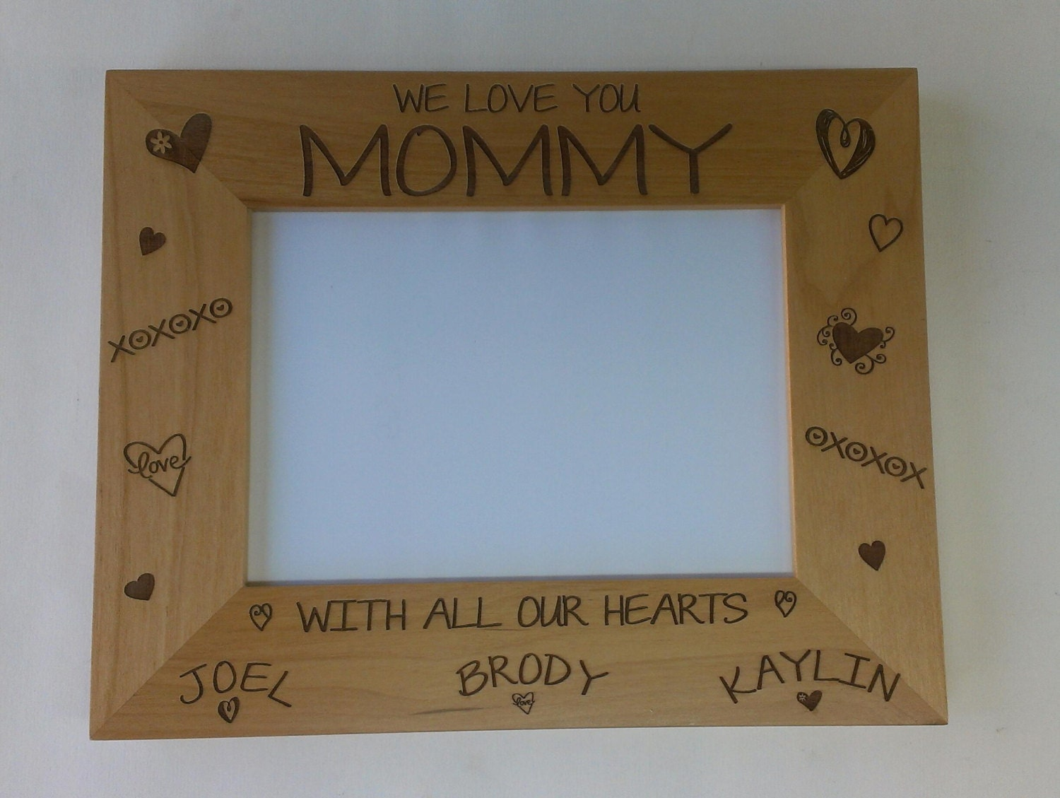 Mother\'s Day Picture Frame We Love You Mommy Personalized | Etsy