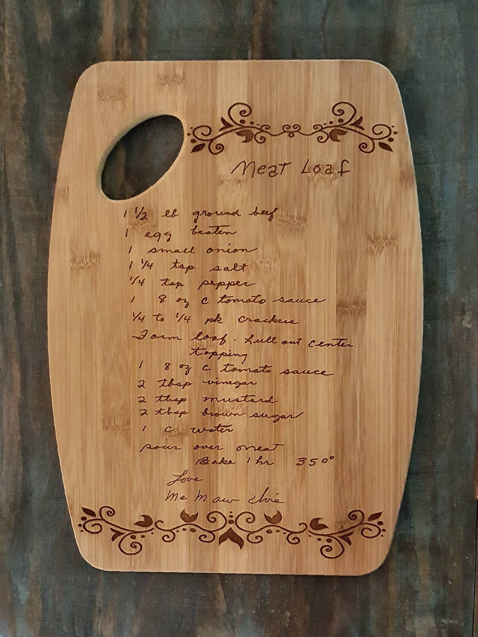 typed recipe cutting board - HD 1610×2145