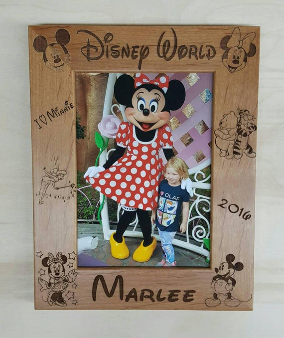 Disney World Mickey And Minnie Mouse Picture Frame 8x10 Etsy