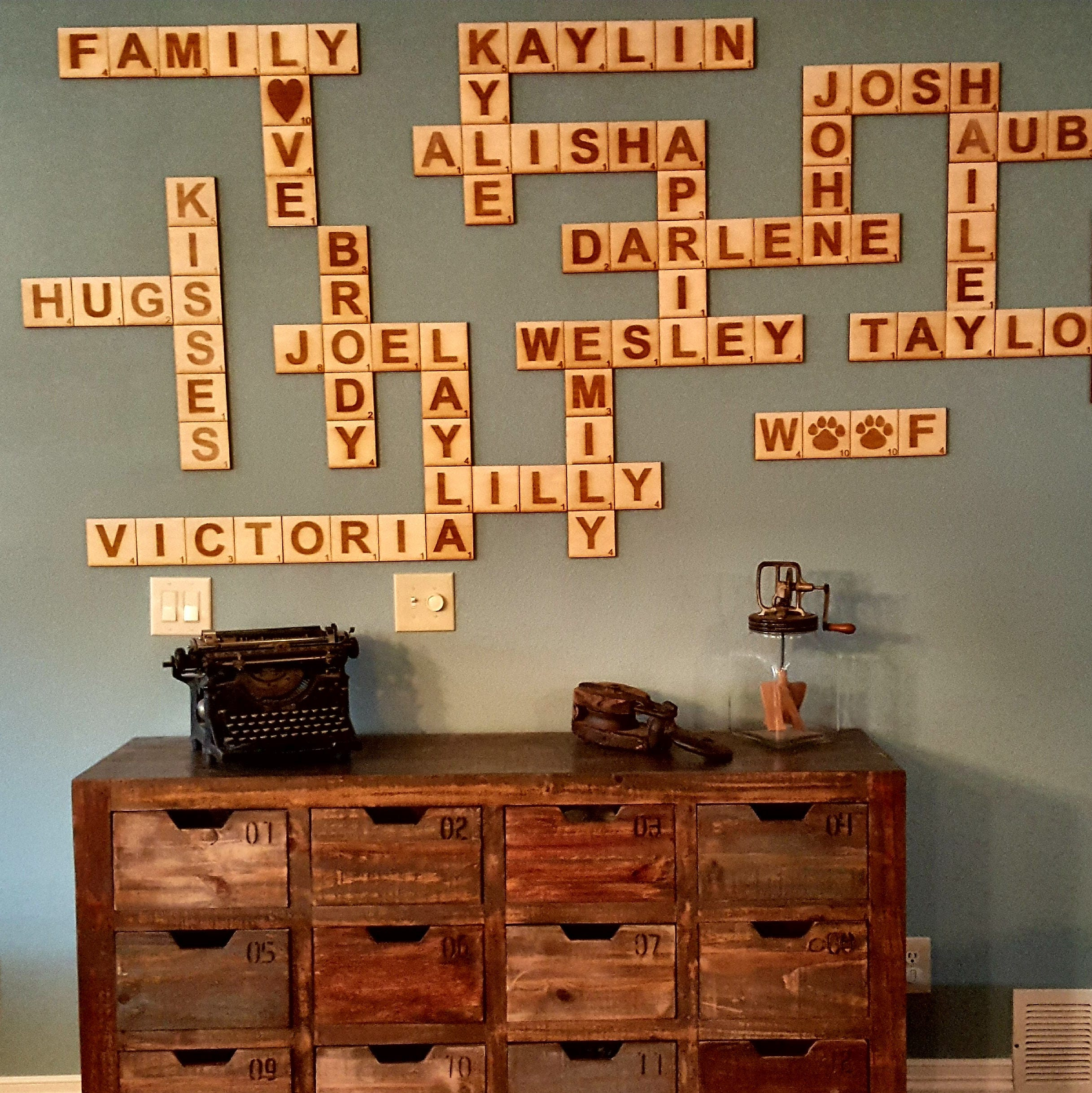 Scrabble Wall Tiles, Scrabble Letters, Scrabble Tiles, Scrabble Wall