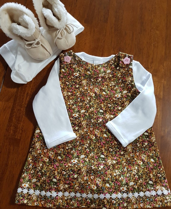 e4b17d7619dc Baby pinafore size 1 floral pinafore summer pinafore