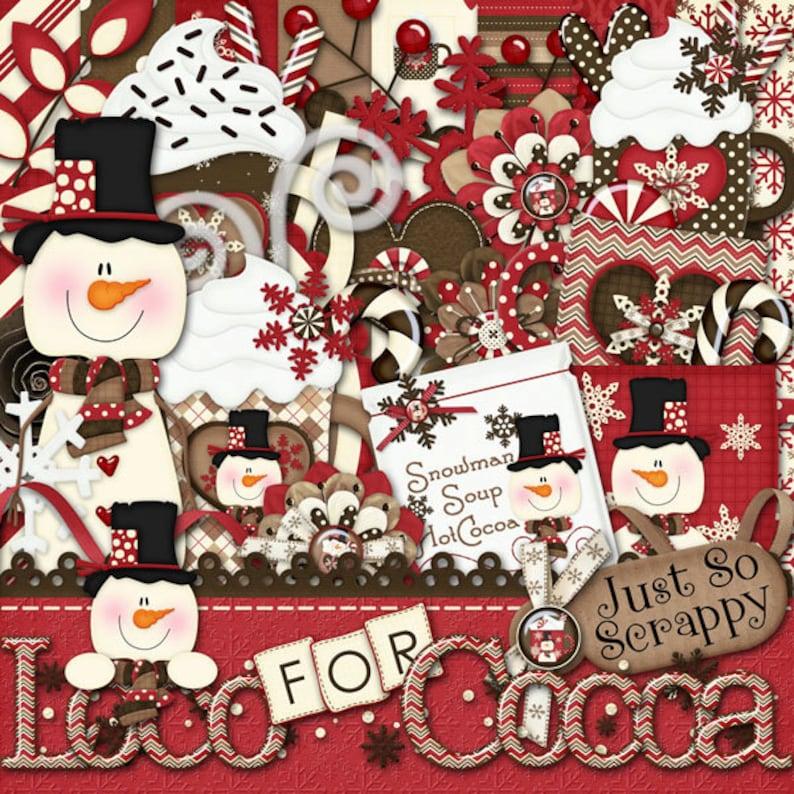 Winter Digital Scrapbooking Kit Loco For Cocoa Scrapbooking image 0