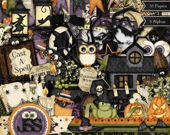 Digital Scrapbooking Kit Bewtiching Halloween - Digital Scrapbook