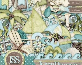 Just Beachy Digital Scrapbook Kit - Digital Scrapbooking