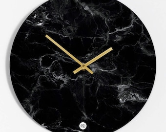 "Wall clock ""black Marmor"""