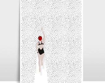 "Artprint ""Swimming points"""