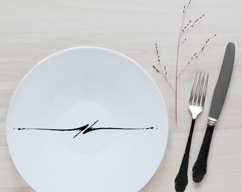 "XXL plate ""Black ink"""
