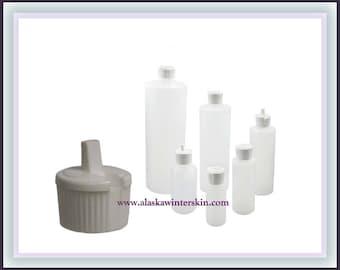 Flip-Top Bottles, Natural Plastic, 2 oz, 4 oz, 6 oz, Set of 6