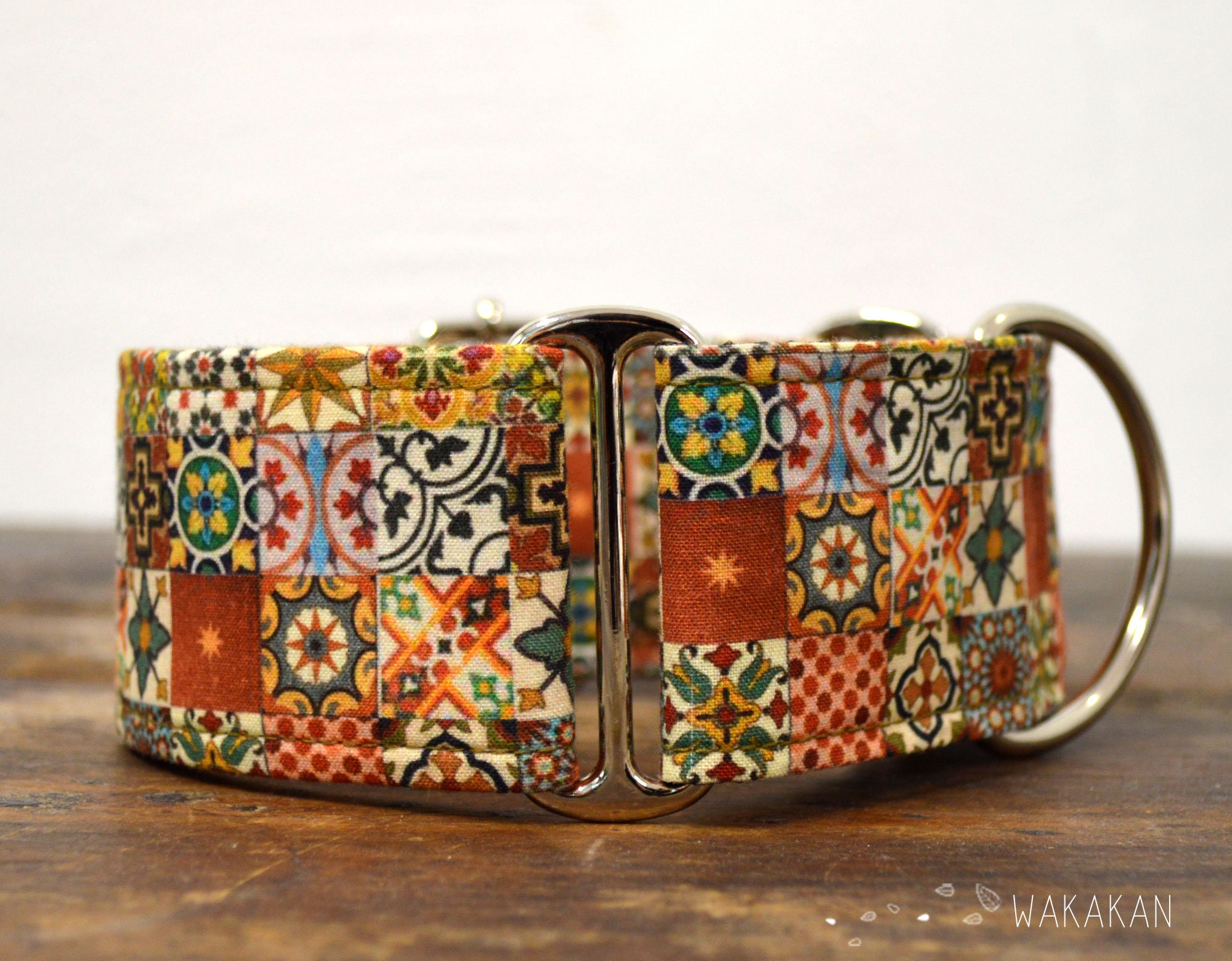 Dream On Martingale Dog Collar Handmade in Spain by Wakak/án
