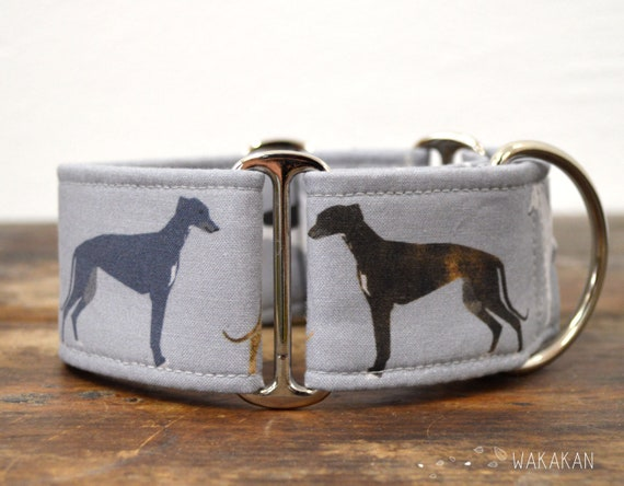 Martingale dog collar model Greyhounds. Adjustable and handmade with 100% cotton fabric. Beautiful greyhounds. Wakakan