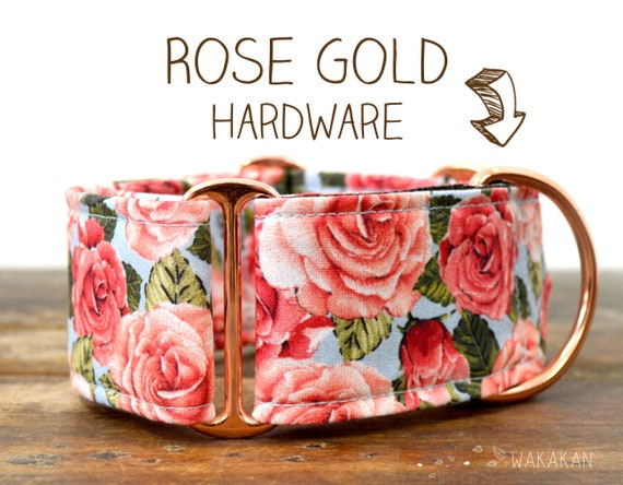 Martingale dog collar model Rose Bouquet. Adjustable and handmade with 100% cotton fabric. Flowers, Spring Wakakan