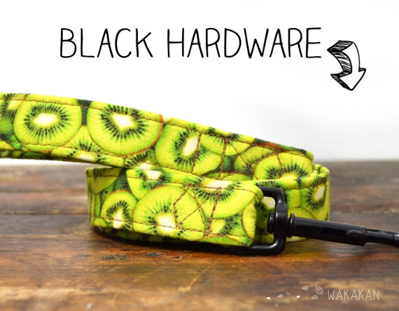 Leash for dog model Kiwi. Handmade with 100% cotton fabric and webbing. Two width available. Wakakan