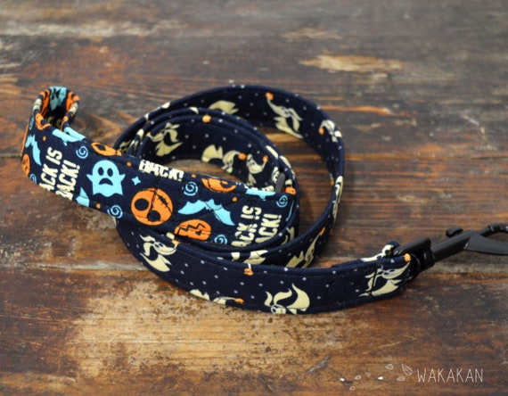 Leash for dog model Zero. Handmade with 100% cotton fabric and webbing. Two width available. Wakakan