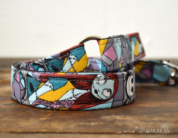 Leash for dog model Eternal Love Sally. Handmade with 100% cotton fabric and webbing. Two width available. Wakakan
