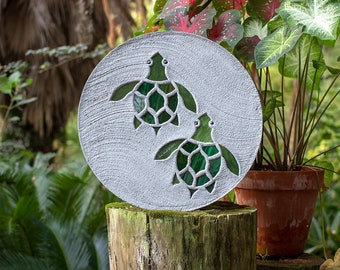 Baby Sea Turtles Hatchlings Stained Glass Stepping Stone #882
