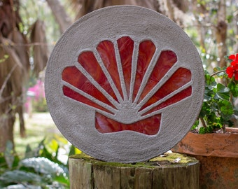 Red Scallop Shell
