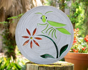 "Praying Mantis or Grasshopper Stepping Stone 18"" Diameter #777"