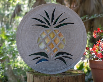 Pretty Pineapple Stepping Stone #849