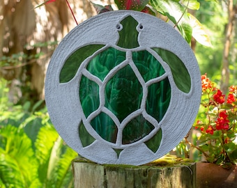 "Sea Turtle Stepping Stone, Large 18"" Diameter #878"