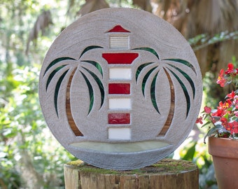 Red & White Lighthouse Stepping Stone #846