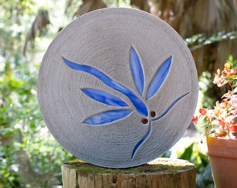 Bright Blue Dragonfly Stepping Stone
