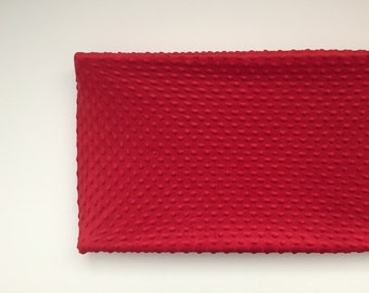 Minky Changing Pad Cover - Red