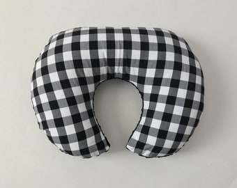 Boppy Cover - Black Buffalo Plaid