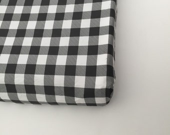 Changing Pad Cover - Black Buffalo Plaid