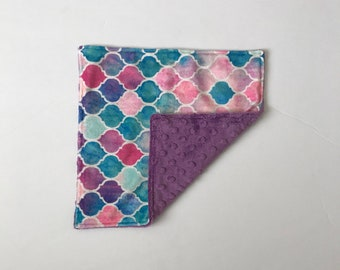 READY TO SHIP Minky Lovey ~ Watercolor Scales