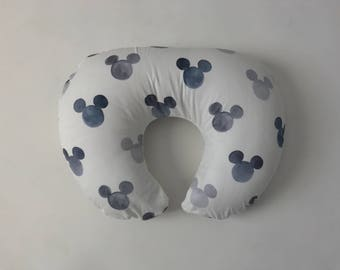 Boppy Cover - Grey Watercolor Mickey Mouse