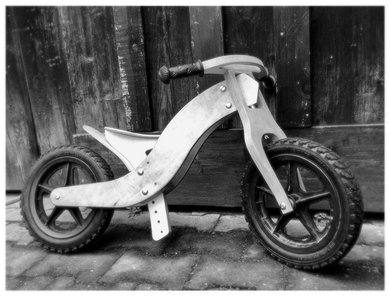 Wood Balance/Walking Bike, DIY Construction Plan, Drawing, Blueprint, CNC  plan to make a kids bike yourself