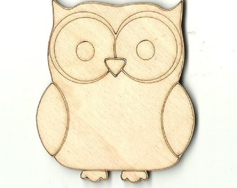 LASER CUT MDF WOODEN CRAFT SHAPE 10 owls OWLS 8cm wide