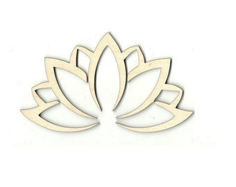 Lotus Flower Cut Out Etsy