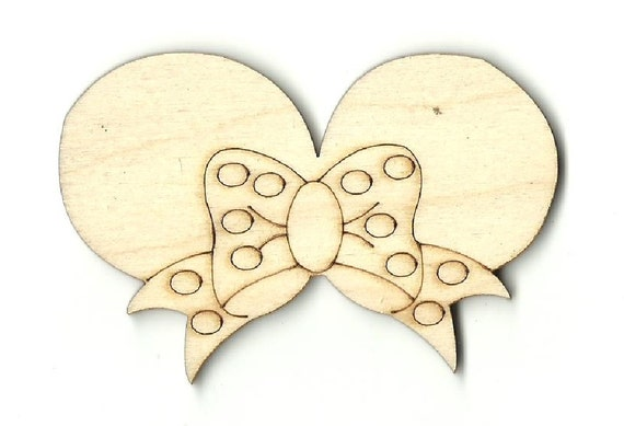 Minnie Mouse Bow Laser Cut Wood Shape DSY118