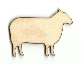 Sheep - Laser Cut Out Unfinished Wood Shape Craft Supply SHP6