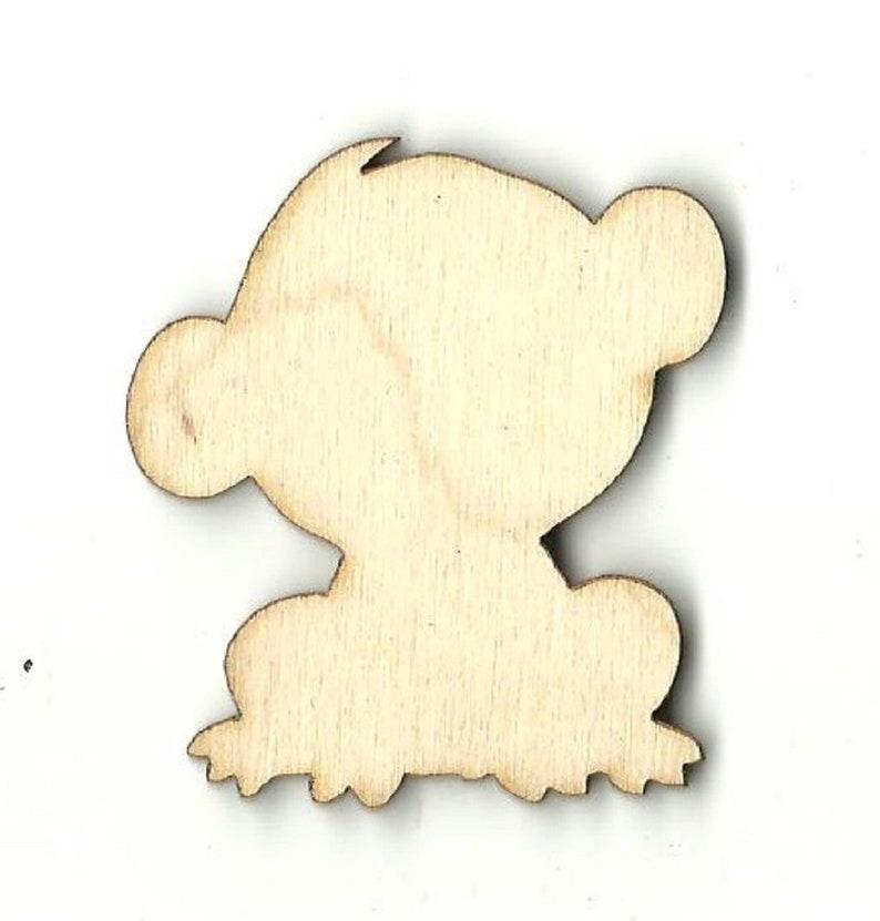 Monkey Laser Cut Out Unfinished Wood Shape Craft Supply APE6