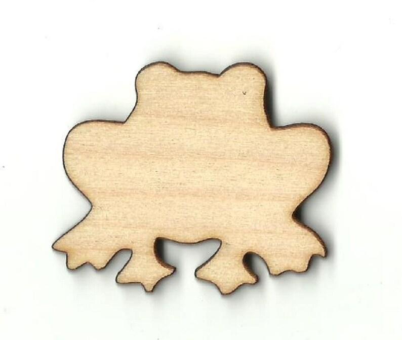 Laser Cut Out Unfinished Wood Shape Craft  Supply FRG17 Frog
