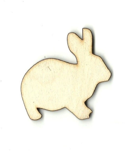 Bunny Rabbit Laser Cut Wood Shape BNY24