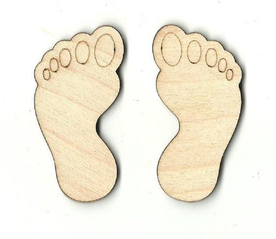 Bigfoot Feet Laser Cut Out Unfinished Wood Shape Craft | Etsy