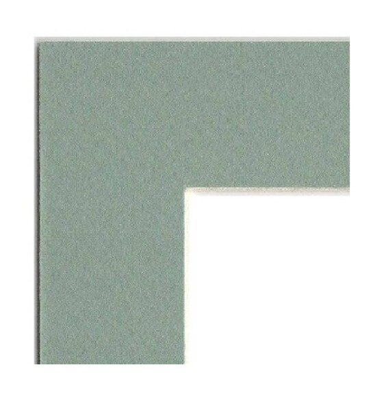 Mat Board Picture Frame Matting With Pre Cut Opening Seafoam Etsy