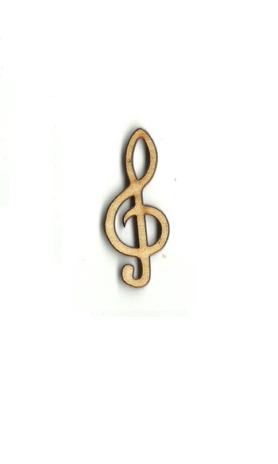 Laser Cut Out Unfinished Wood Shape Craft Supply MSC26 Music Note